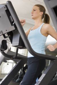 woman - treadmill