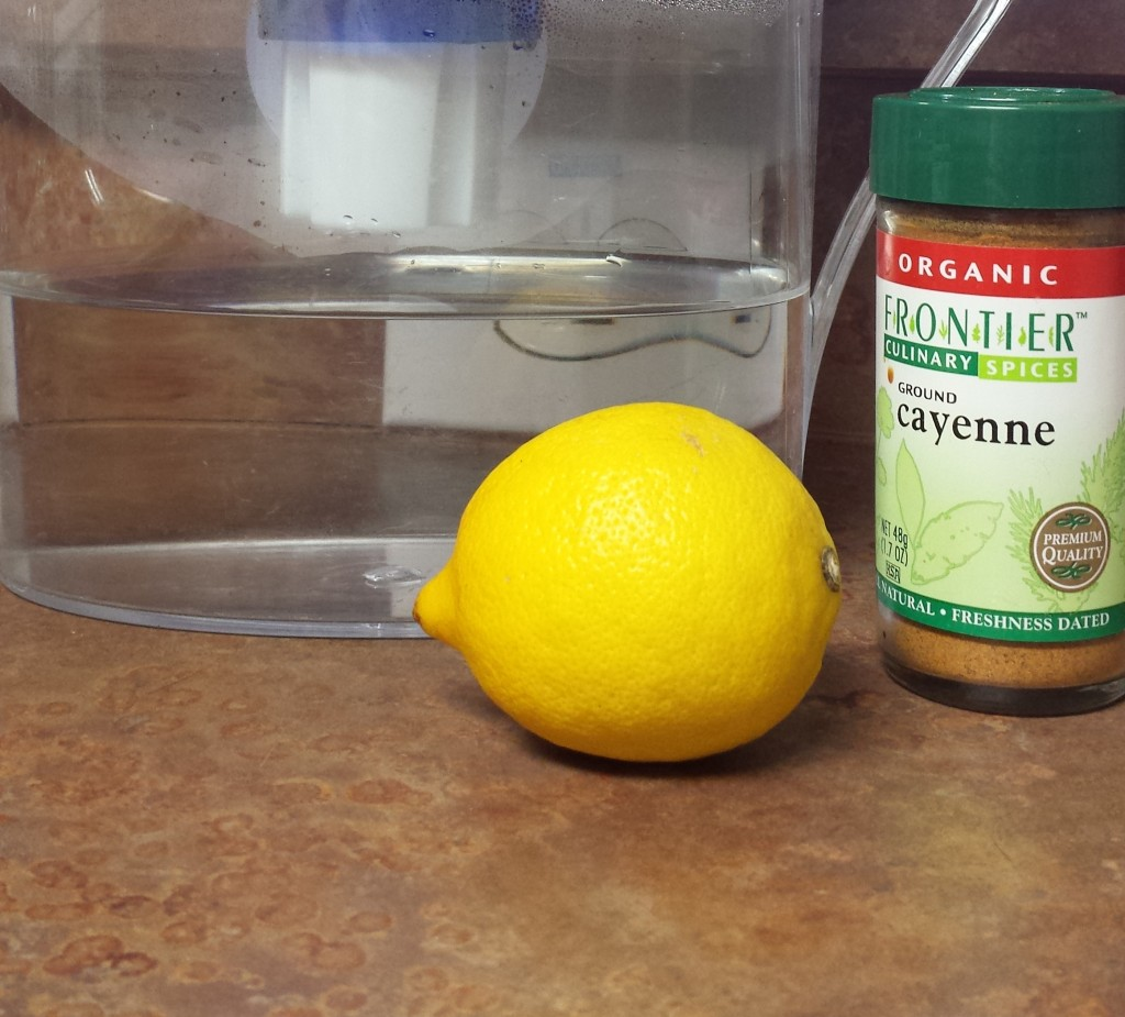 Lemon  -Cayenne Pepper Water
