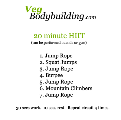 HIIT - No equipment - 20 minutes