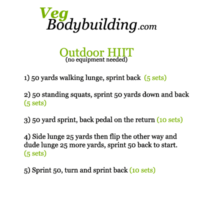 Outside - No Equipment - HIIT