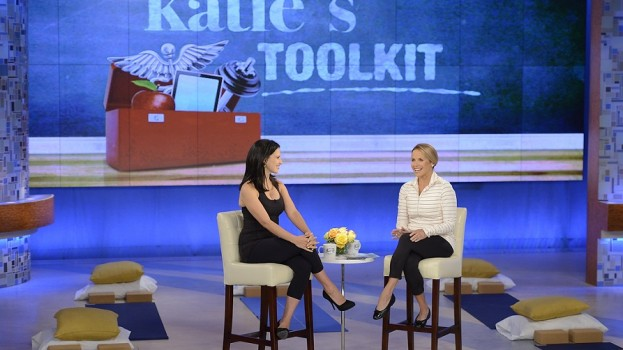 Hilaria Baldwin Shows Prenatal Yoga Moves on Katie Couric's Show