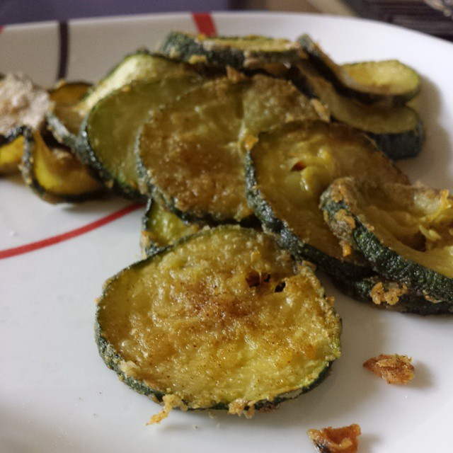 baked zucchini chips - vegan - recipe